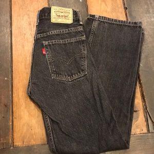 Levi's boys 14 slim black jeans